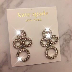 Kate Spade Diamond drop earrings (silver